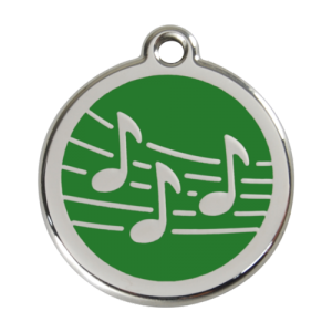 Green Music Pet Tag