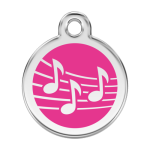 Hot Pink Music Pet Tag