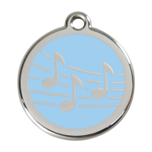Light Blue Music Pet Tag