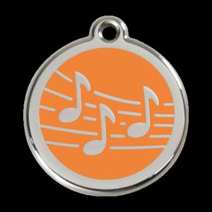 Orange Music Pet Tag
