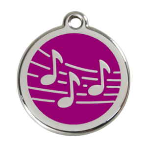 Purple Music Pet Tag