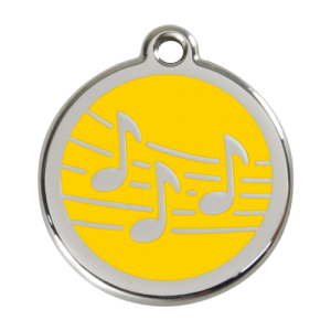 Yellow Music Pet Tag