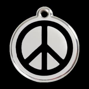 Black Peace Pet Tag