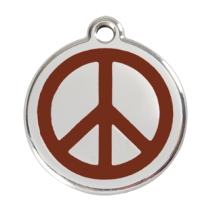 Brown Peace Pet Tag