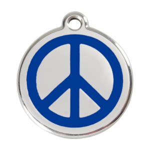 Dark Blue Peace Pet Tag