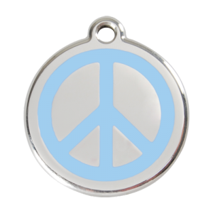 Light Blue Peace Pet Tag