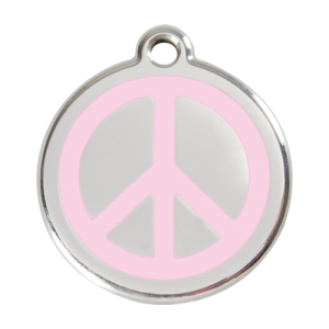 Pink Peace Pet Tag