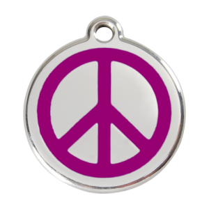 Purple Peace Pet Tag