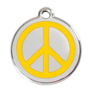 Yellow Peace Pet Tag