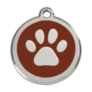 Brown Pawprint Pet Tag