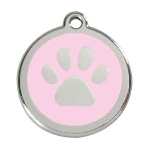 Pink Pawprint Pet Tag