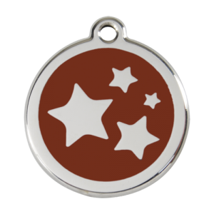 Brown Star Pet Tag