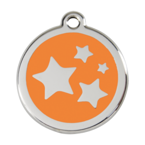 Orange Star Pet Tag