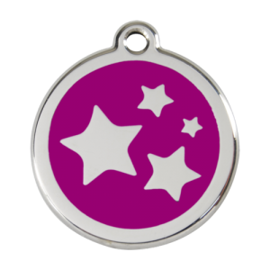 Purple Star Pet Tag