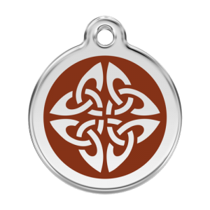 Brown Tribal Arrows Pet Tag