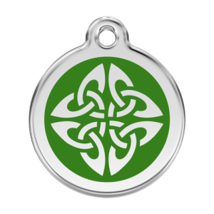Green Tribal Arrows Pet Tag