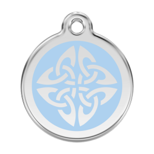 Light Blue Tribal Arrows Pet Tag