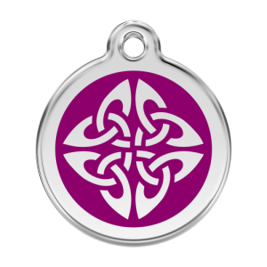 Purple Tribal Arrows Pet Tag