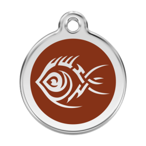 Brown Tribal Fish Pet Tag