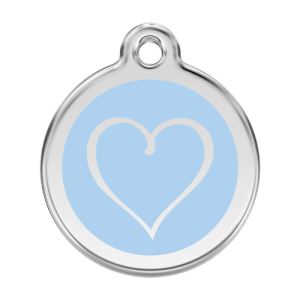 Light Blue Tribal Heart Pet Tag