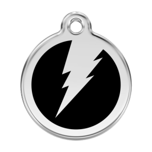 Black Flash Pet Tag