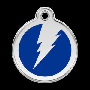 Dark Blue Flash Pet Tag