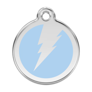 Light Blue Flash Pet Tag