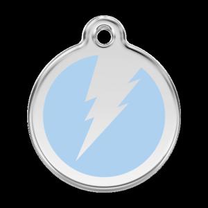 Light Blue Flash Pet Tag