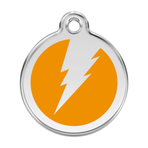 Orange Flash Pet Tag