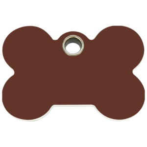 Brown Bone Plastic Pet Tag