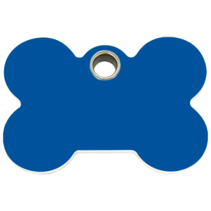 Dark Blue Bone Plastic Pet Tag