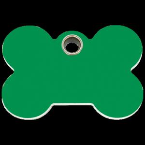 Green Bone Plastic Pet Tag