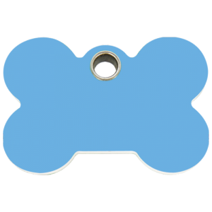 Light Blue Bone Plastic Pet Tag