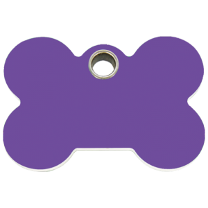 Purple Bone Plastic Pet Tag