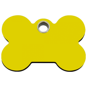 Yellow Bone Plastic Pet Tag