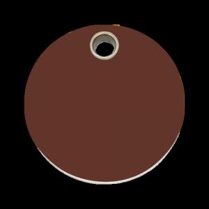 Brown Circle Pet Tag