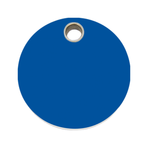 Dark Blue Circle Pet Tag