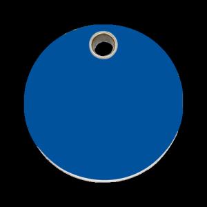 Dark Blue Circle Pet Tag
