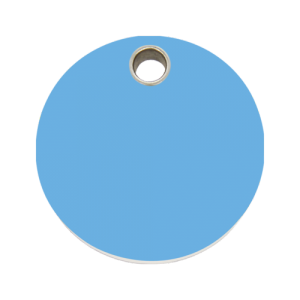 Light Blue Circle Pet Tag