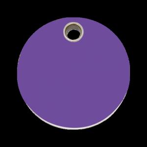 Purple Circle Pet Tag