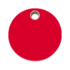 Red Circle Pet Tag