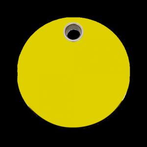 Yellow Circle Pet Tag