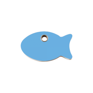 Light Blue Fish Pet Tag