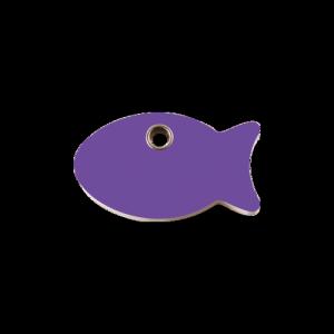 Purple Fish Pet Tag