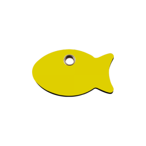Yellow Fish Pet Tag