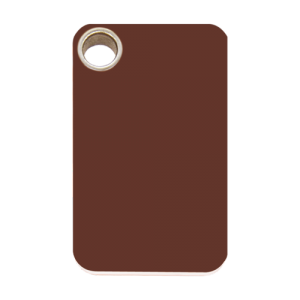 Brown Rectangle Plastic Pet Tag