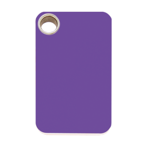Purple Rectangle Plastic Pet Tag