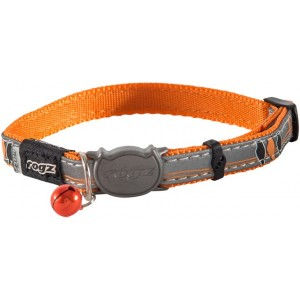 Rogz Night Cat Collar 11mm - Orange Birds