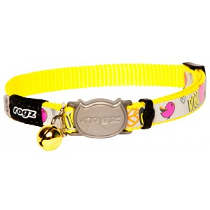 Rogz Reflecto Cat Collar 11mm - Day Glo