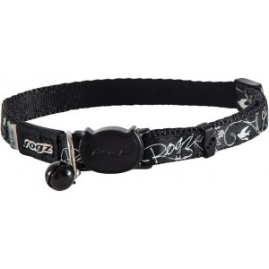 Rogz Silky Cat Collar 11mm - Black Filigree